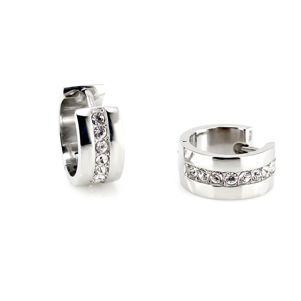 MPM Ocelové náušnice z chirurgické oceli Earrings 7761 - Silver