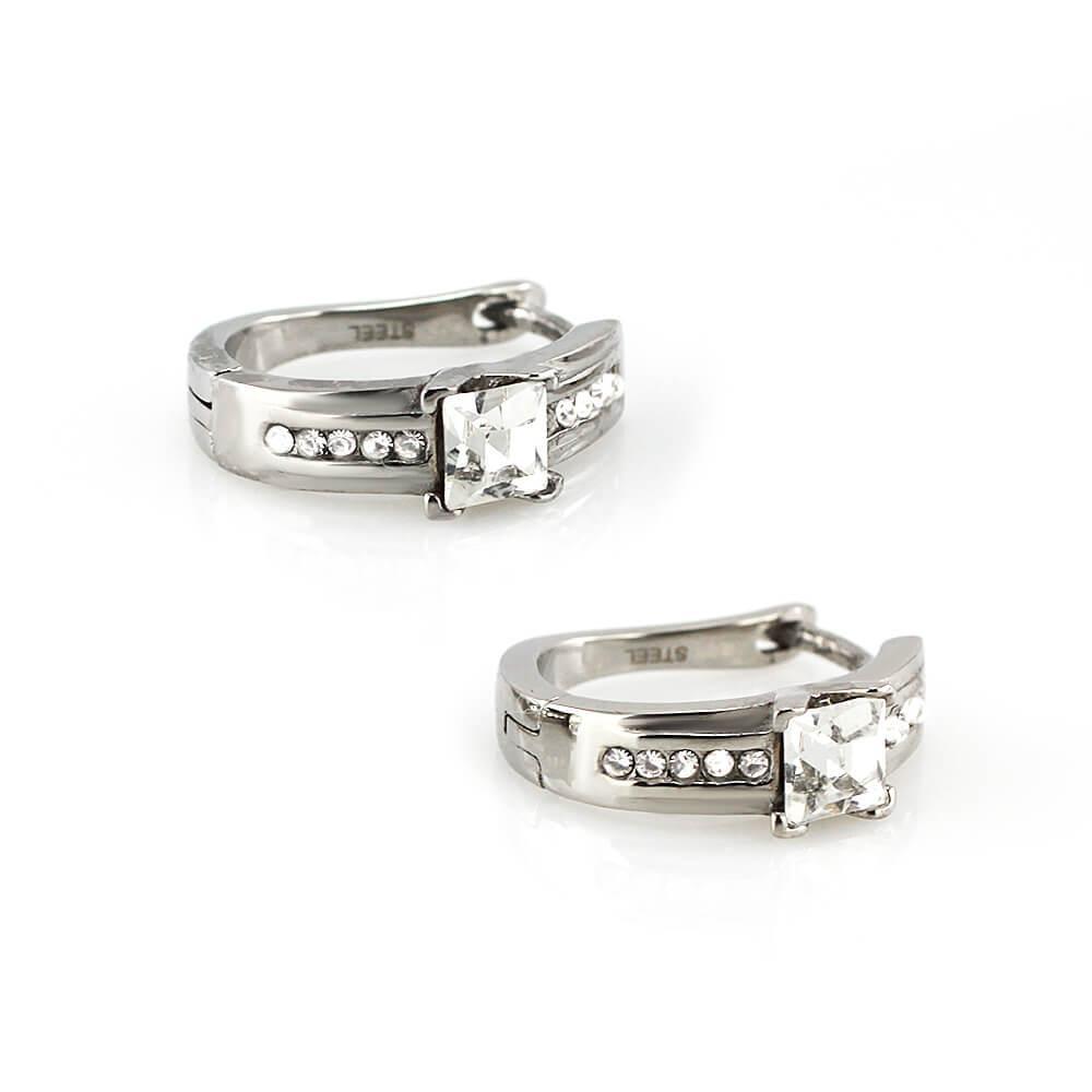 MPM Ocelové náušnice z chirurgické oceli Earrings 7763 - Silver