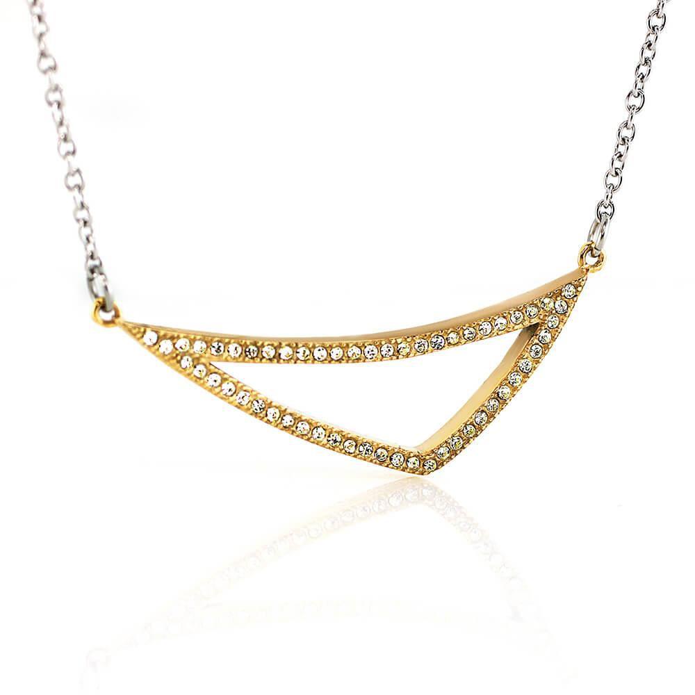 MPM Ocelový náhrdelník z chirurgické oceli Necklace 7701 - Gold
