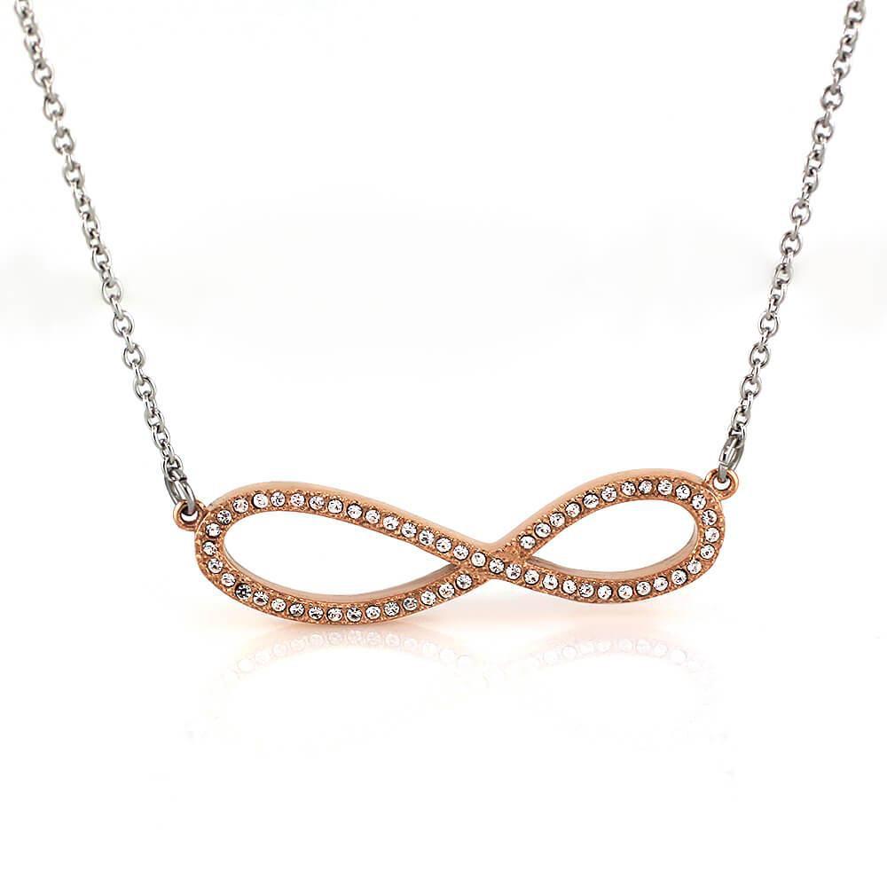 MPM Ocelový náhrdelník z chirurgické oceli Necklace 7706 - Gold rose