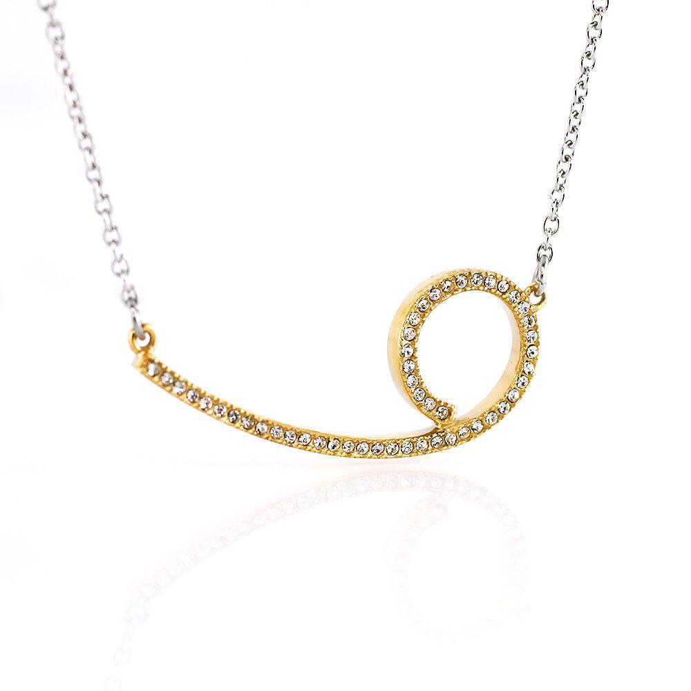 MPM Ocelový náhrdelník z chirurgické oceli Necklace 7710 - Gold