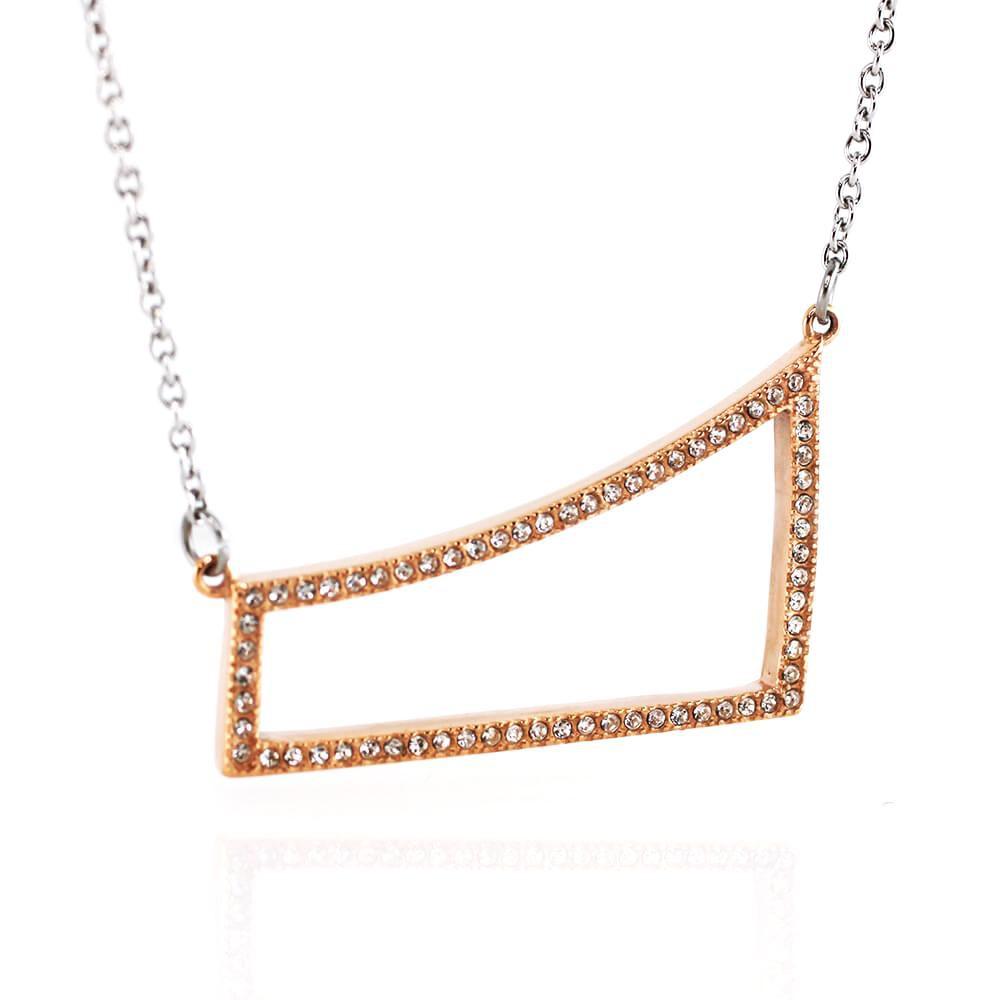 MPM Ocelový náhrdelník z chirurgické oceli Necklace 7712 - Gold rose