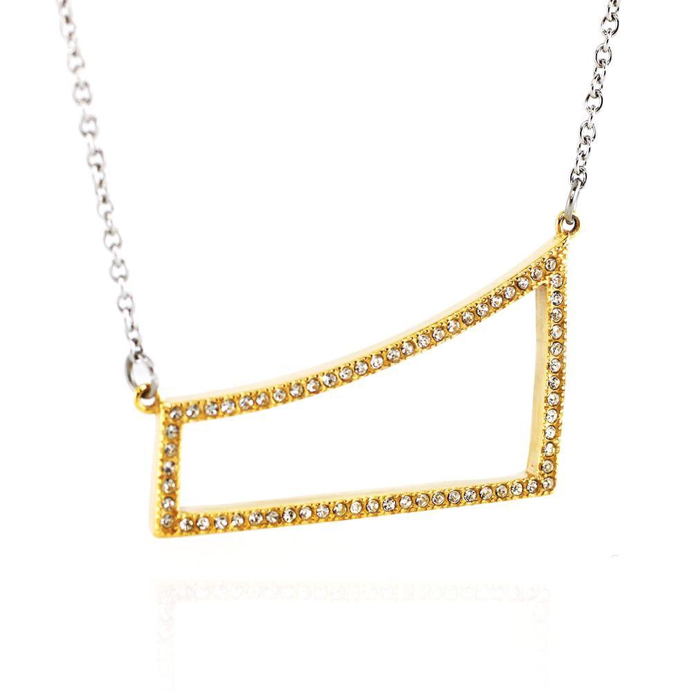 MPM Ocelový náhrdelník z chirurgické oceli Necklace 7713 - Gold