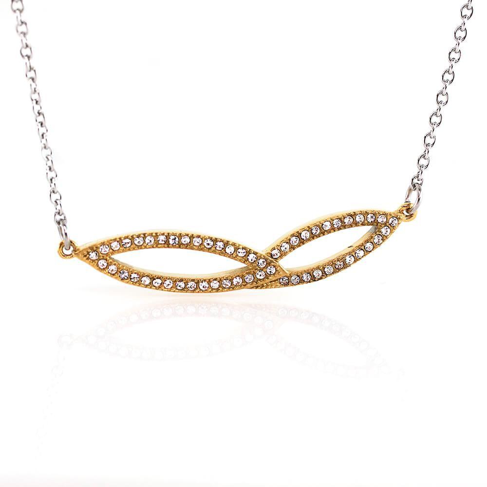 MPM Ocelový náhrdelník z chirurgické oceli Necklace 7716 - Gold