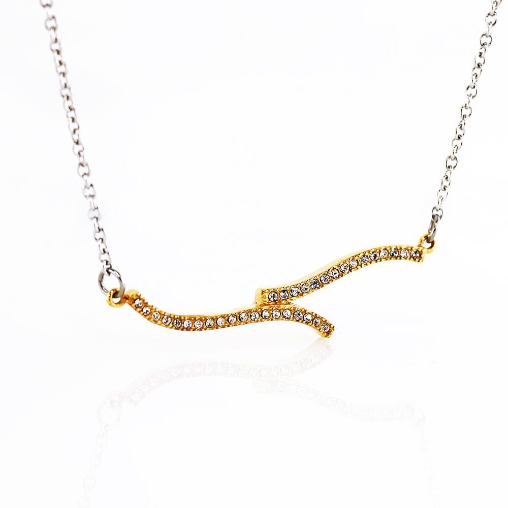 MPM Ocelový náhrdelník z chirurgické oceli Necklace 7719, Gold