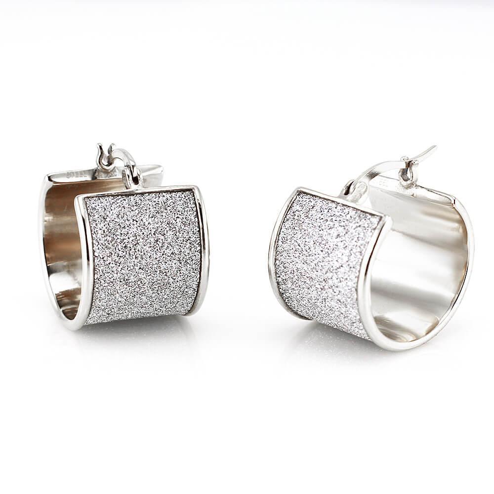 MPM Ocelové náušnice z chirurgické oceli Earrings 7723, Silver