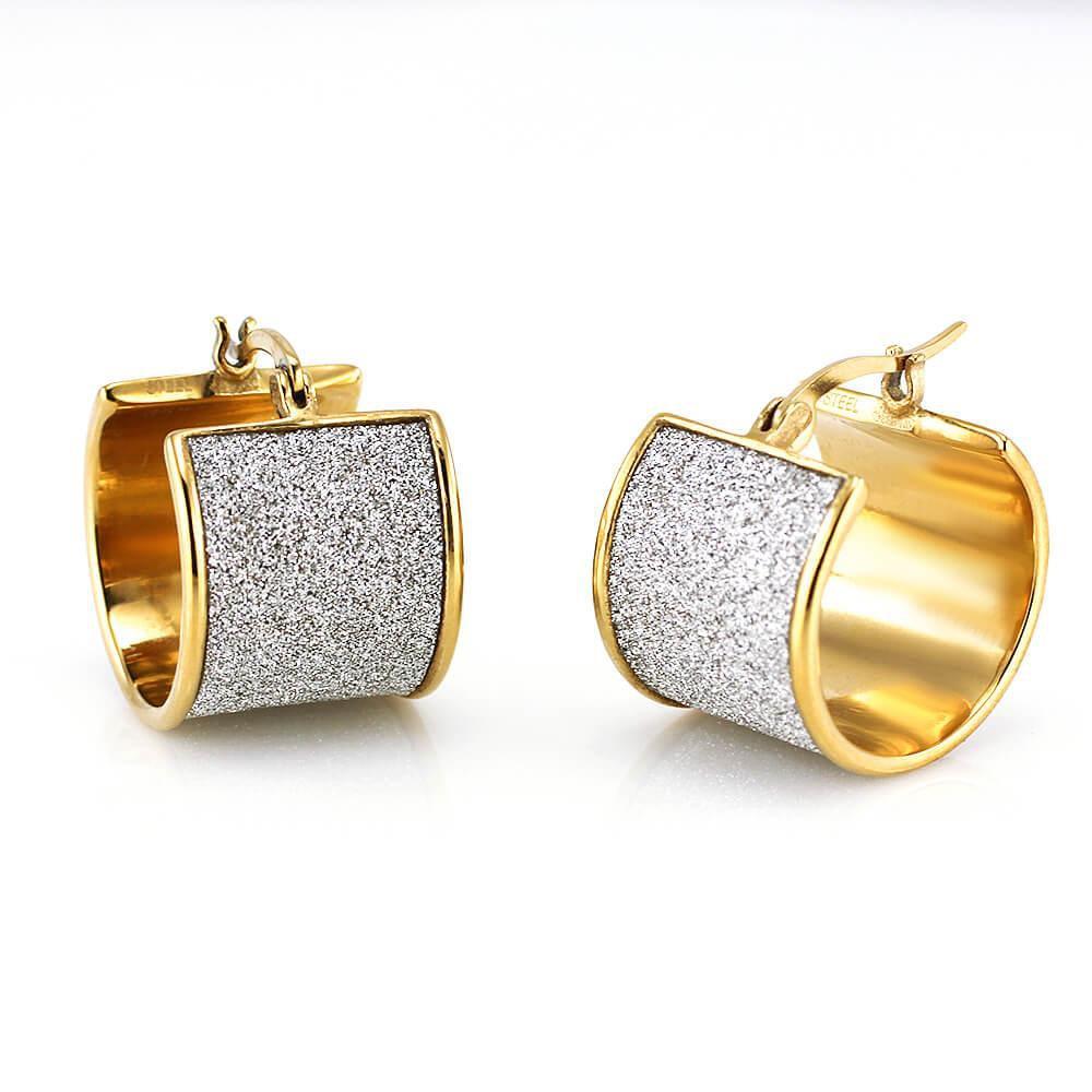 MPM Ocelové náušnice z chirurgické oceli Earrings 7724, Gold
