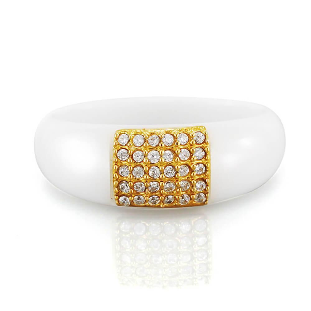 MPM Prsten z chirurgické oceli Ring 7882, Ceramic, size 60