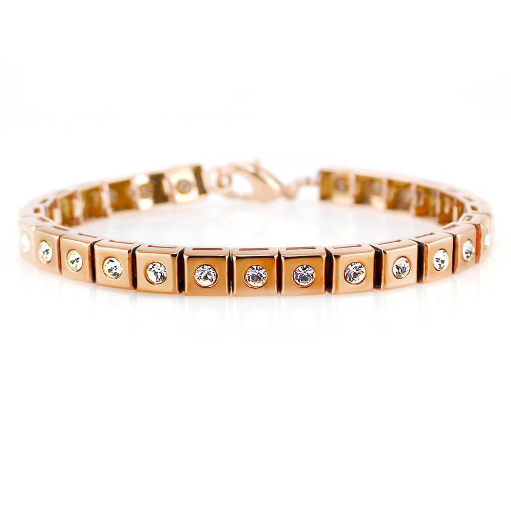 MPM Ocelový náramek z chirurgické oceli Bracelet 7957, Gold rose