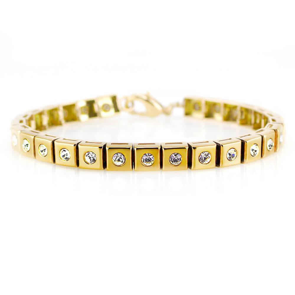 MPM Ocelový náramek z chirurgické oceli Bracelet 7958, Gold