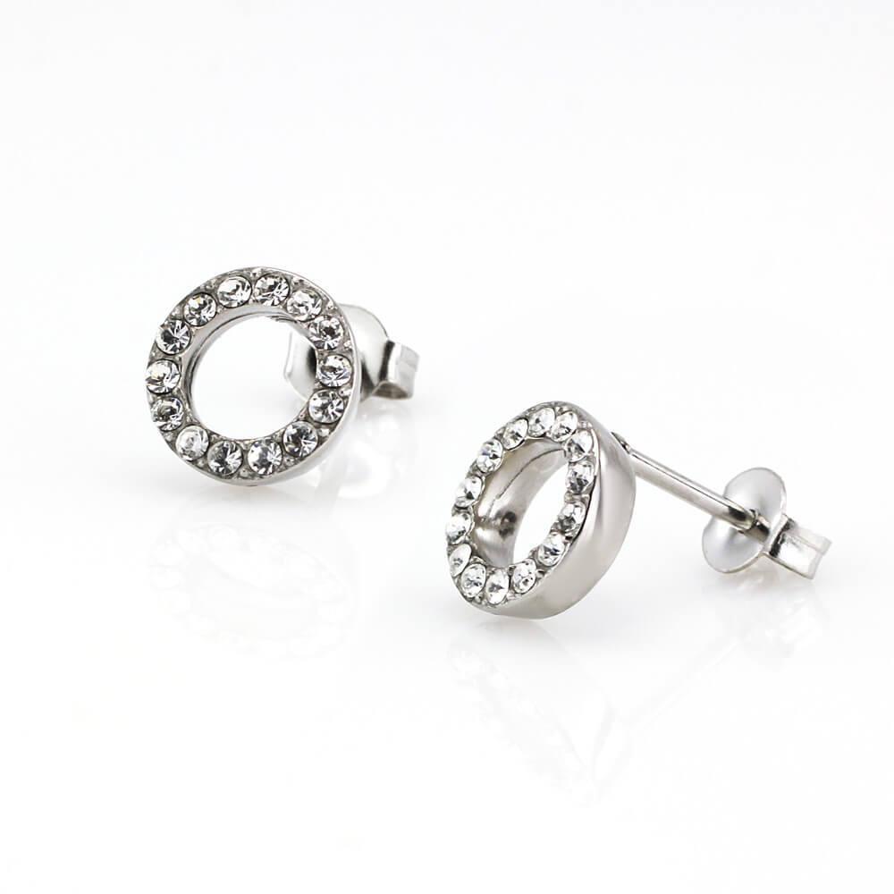 MPM Ocelové náušnice z chirurgické oceli Earrings 7914, Silver