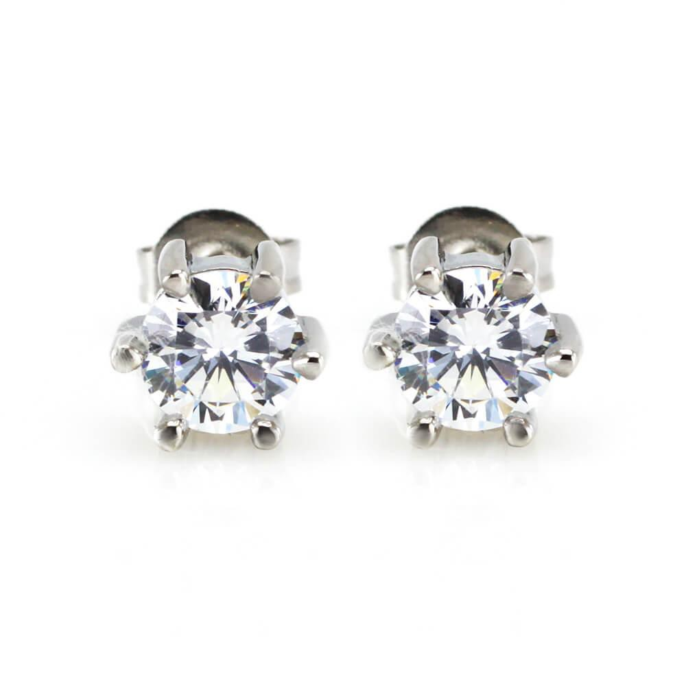 MPM Ocelové náušnice z chirurgické oceli Earrings 7915, Silver