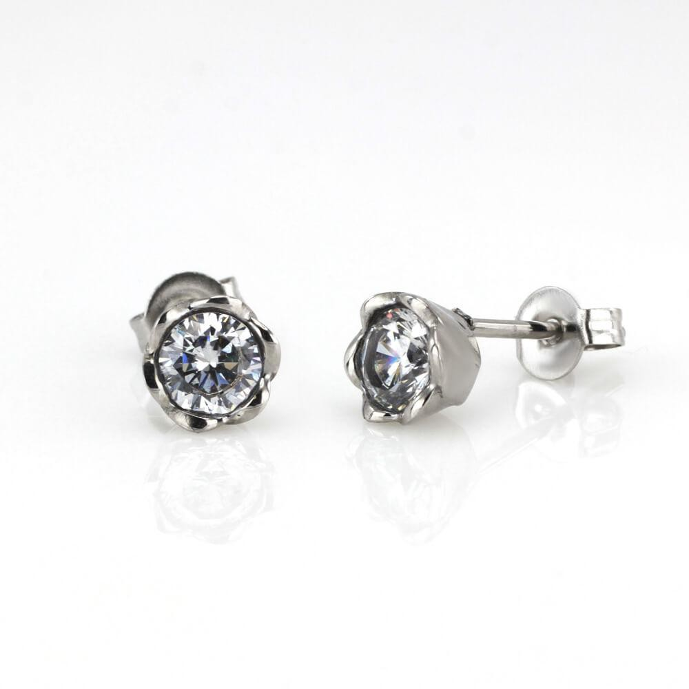 MPM Ocelové náušnice z chirurgické oceli Earrings 7919, Silver