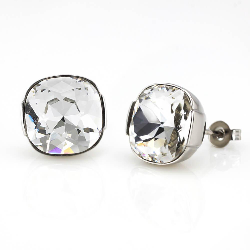 MPM Ocelové náušnice z chirurgické oceli Earrings 7930, Silver
