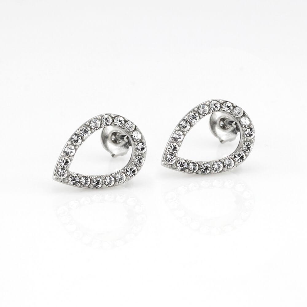 MPM Ocelové náušnice z chirurgické oceli Earrings 7932, Silver