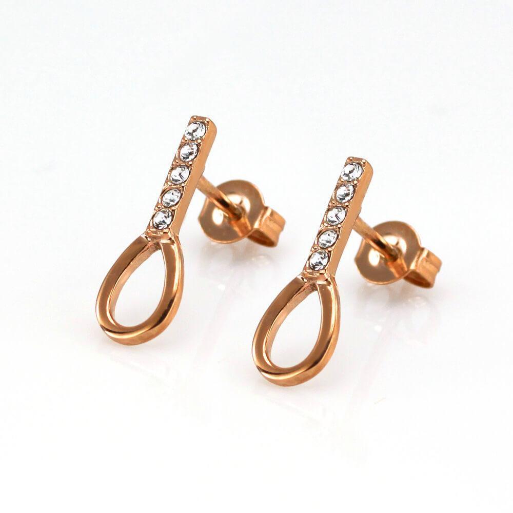 MPM Ocelové náušnice z chirurgické oceli Earrings 7933, Gold