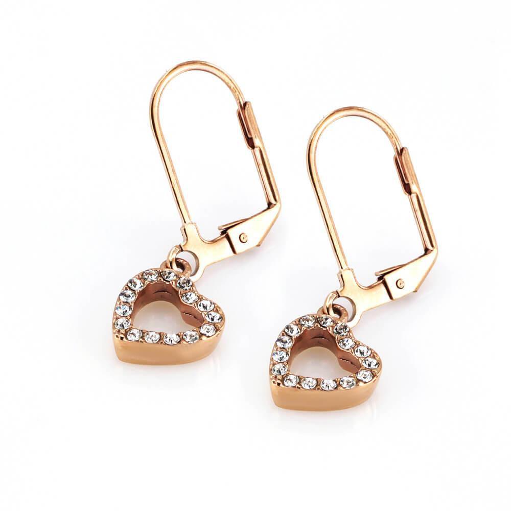 MPM Ocelové náušnice z chirurgické oceli Earrings 7936, Gold