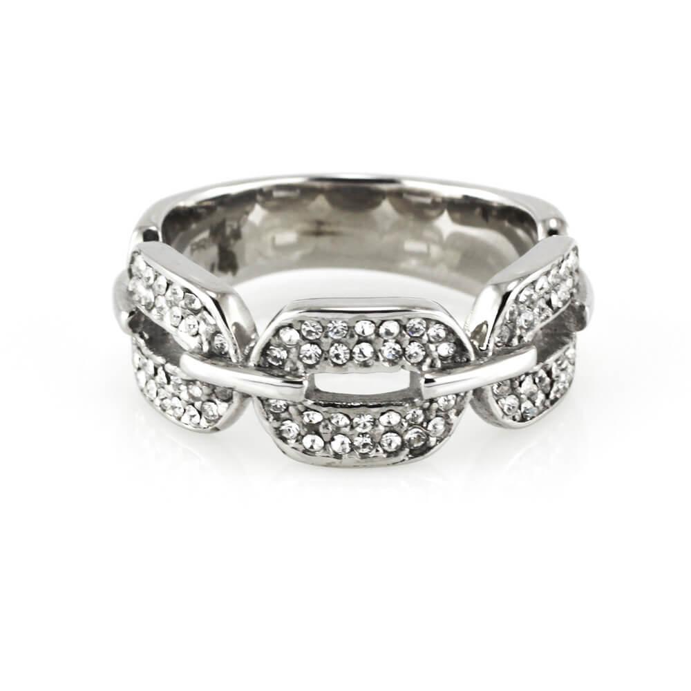 MPM Prsten z chirurgické oceli Ring 7926, Silver, size 58