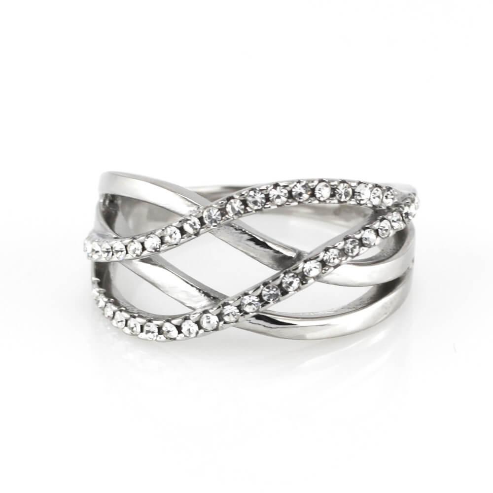 MPM Prsten z chirurgické oceli Ring 7941, Silver, size 58