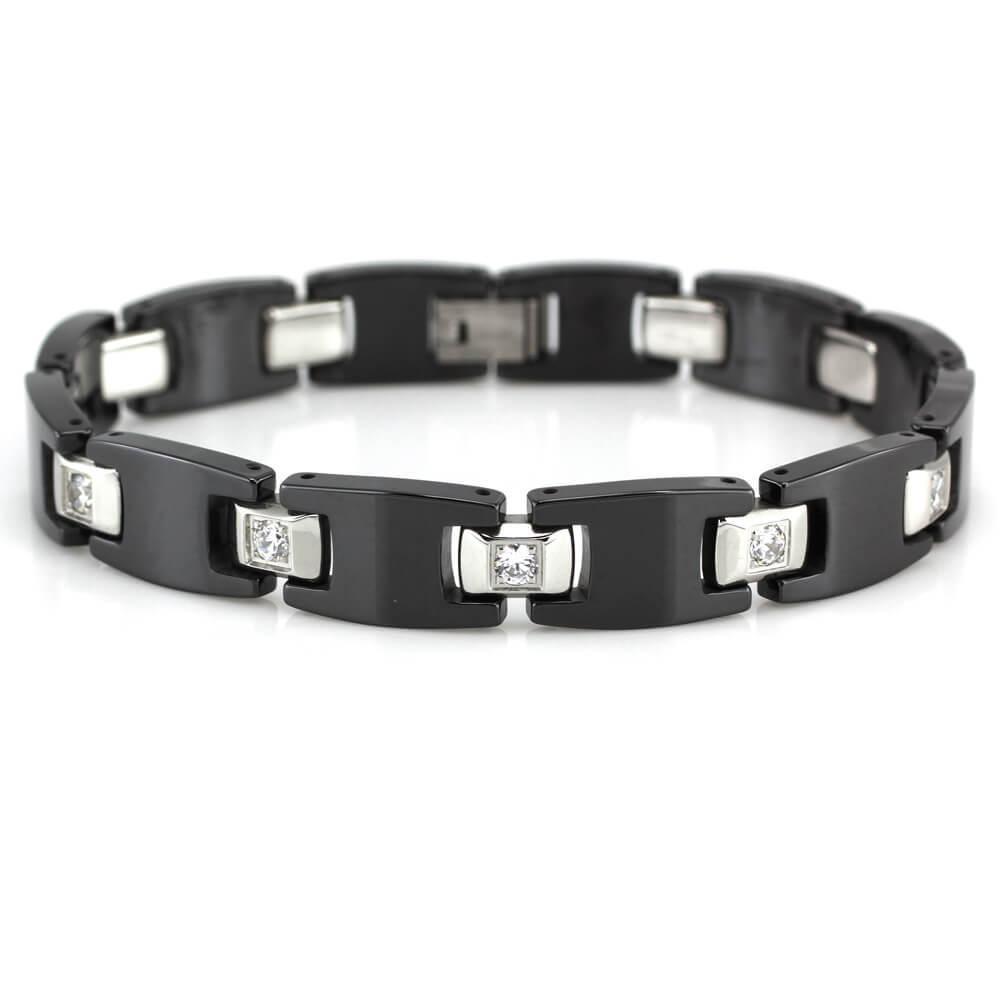 MPM Ocelový náramek z chirurgické oceli Bracelet 7693, Black