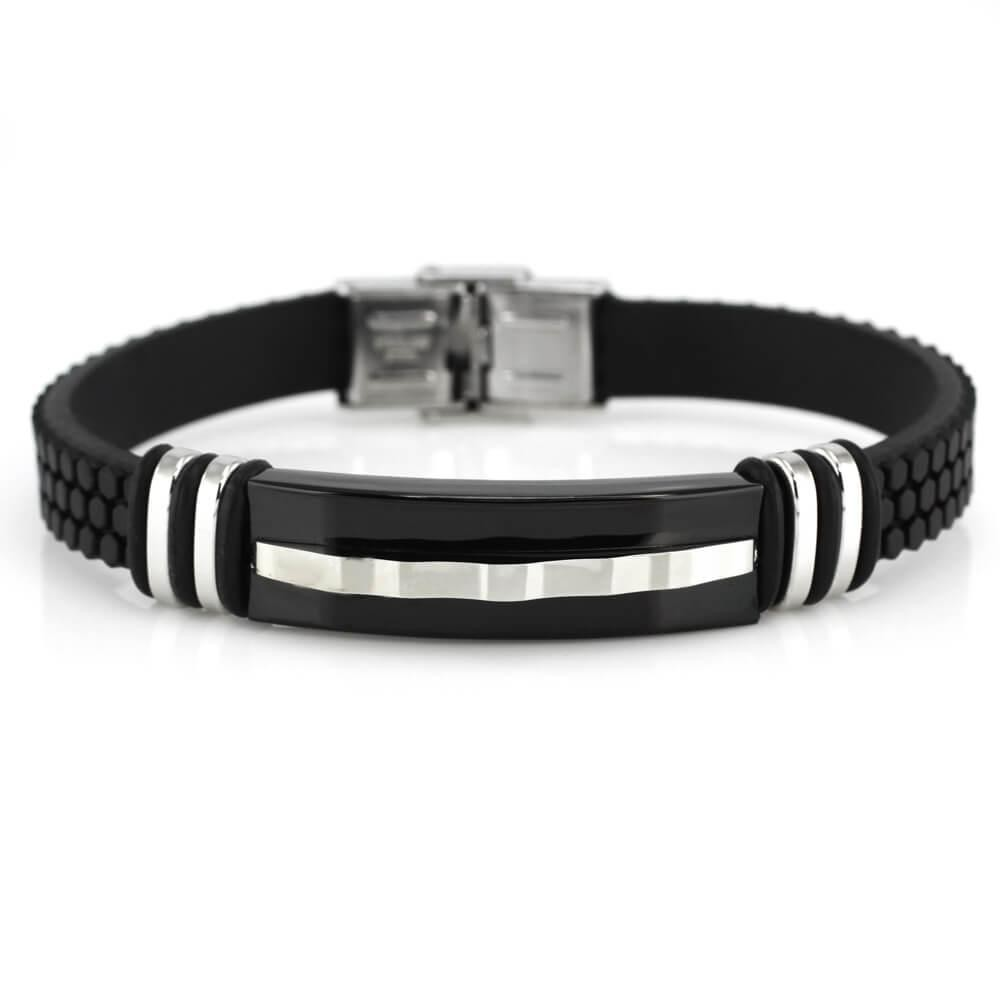 MPM Ocelový náramek z chirurgické oceli Bracelet 7776, Black