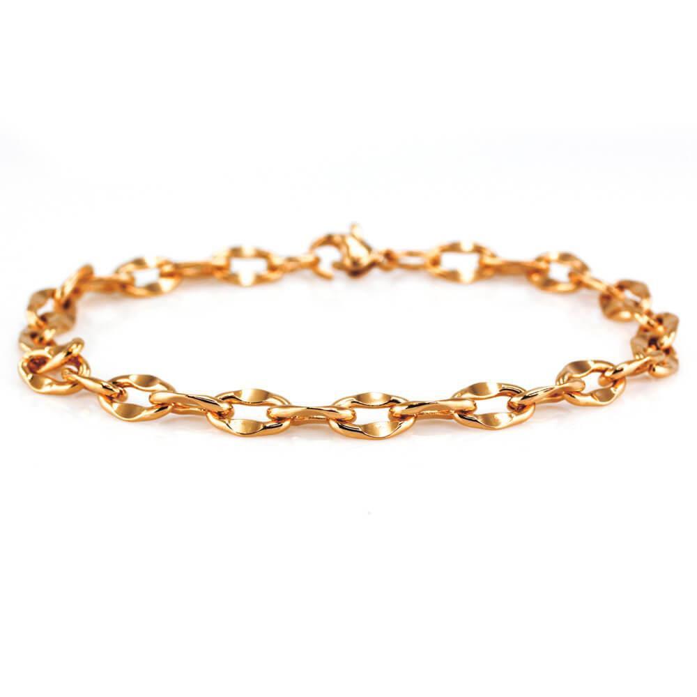 MPM Ocelový náramek z chirurgické oceli Bracelet 7898, Gold, 20 cm