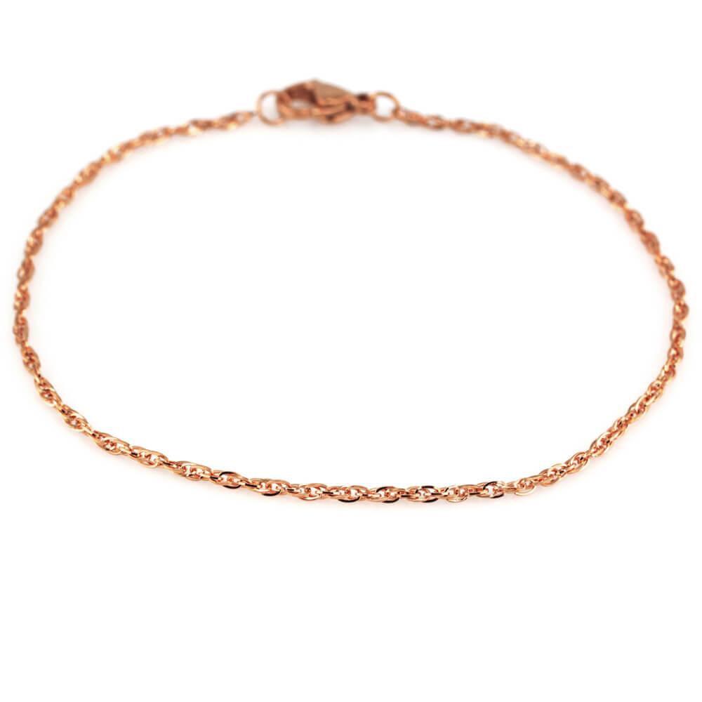 MPM Ocelový náramek z chirurgické oceli Bracelet 7901, Gold rose, 19 cm