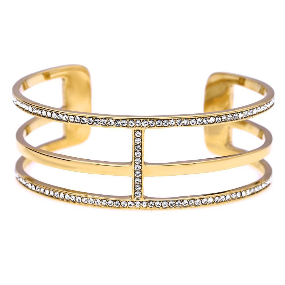 MPM Ocelový náramek z chirurgické oceli Bracelet 7988, Gold, size L