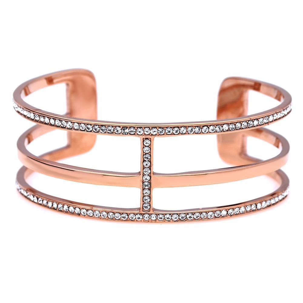 MPM Ocelový náramek z chirurgické oceli Bracelet 7989, Gold rose, size L
