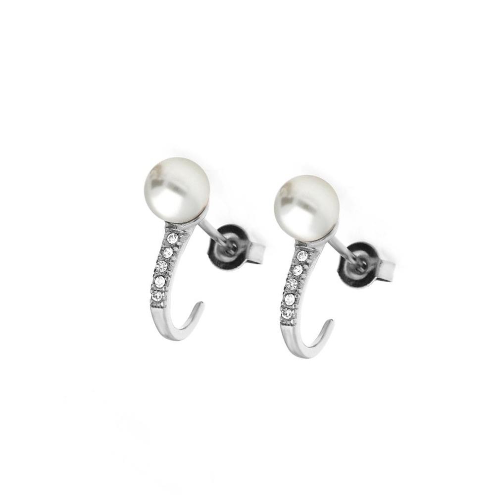 MPM Ocelové náušnice z chirurgické oceli Earrings 8009, Silver
