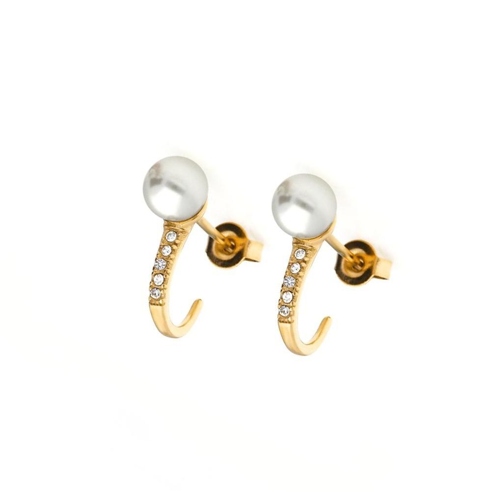 MPM Ocelové náušnice z chirurgické oceli Earrings 8011, Gold