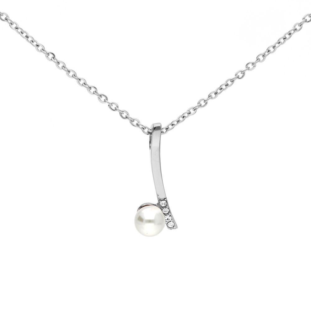 MPM Ocelový náhrdelník z chirurgické oceli Necklace 7998, Silver