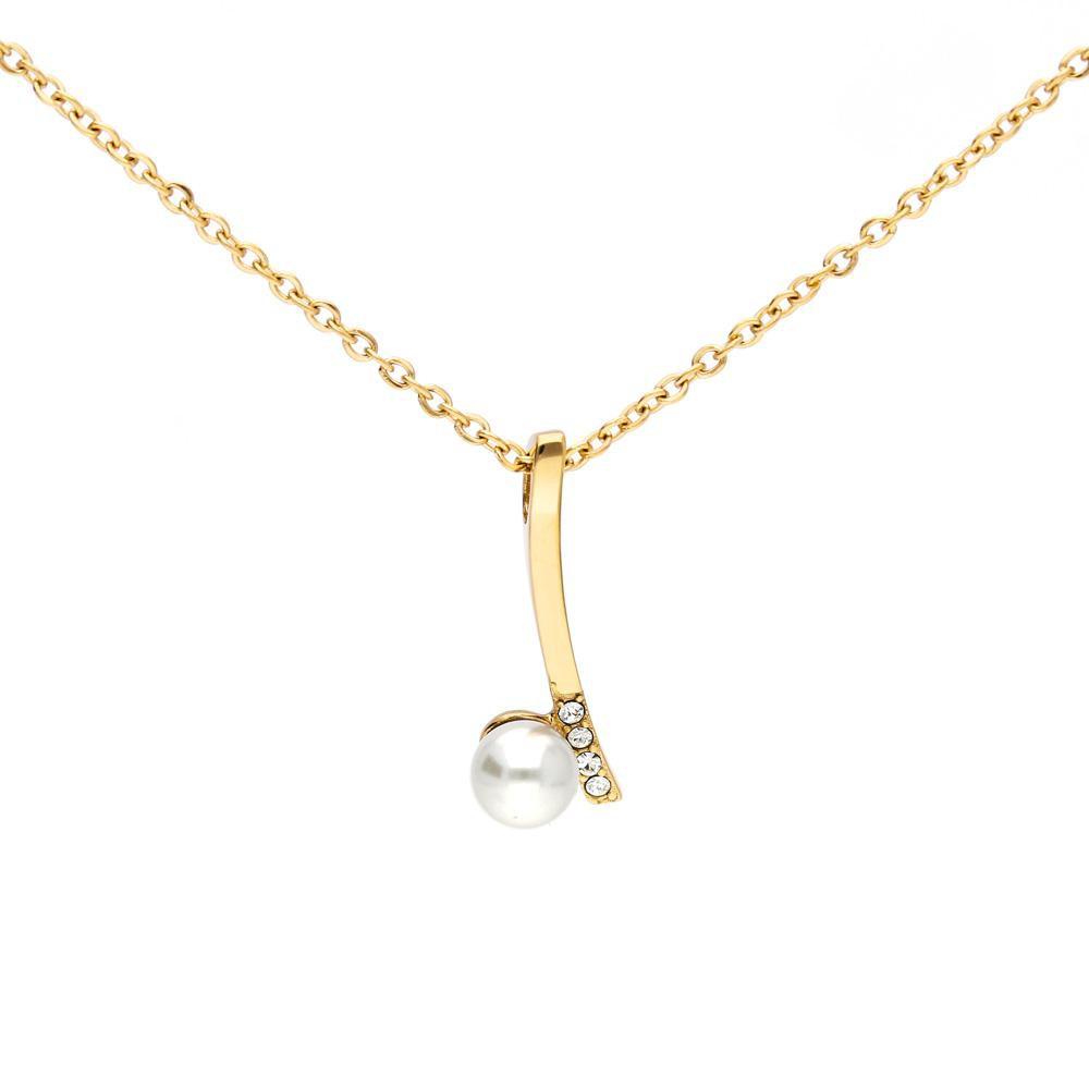 MPM Ocelový náhrdelník z chirurgické oceli Necklace 8000, Gold
