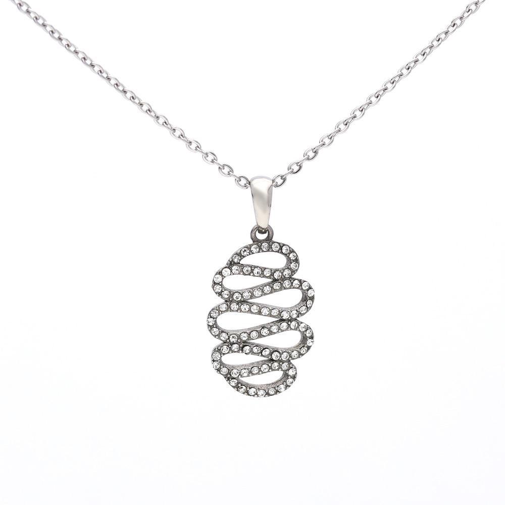 MPM Ocelový náhrdelník z chirurgické oceli Necklace 8005, Silver