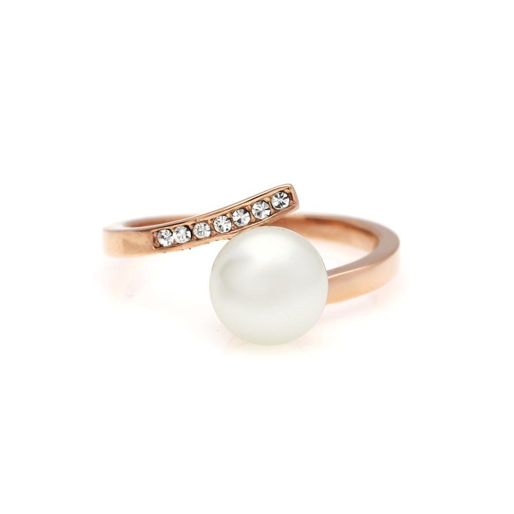 MPM Prsten z chirurgické oceli Ring 8010, Gold rose, size 56