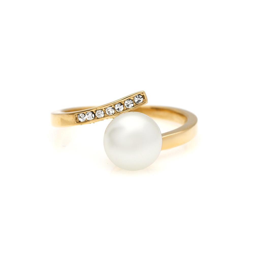 MPM Prsten z chirurgické oceli Ring 8011, Gold, size 58