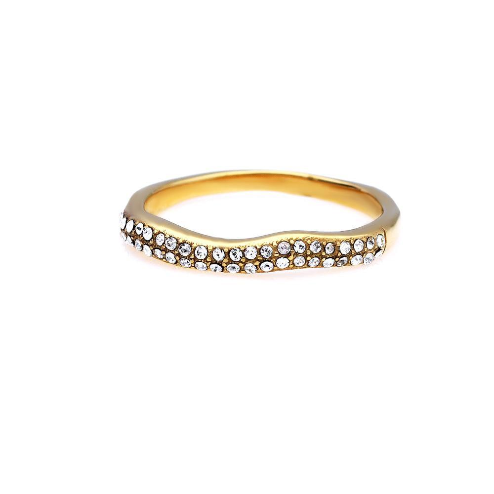 MPM Prsten z chirurgické oceli Ring 8027, Gold, size 58