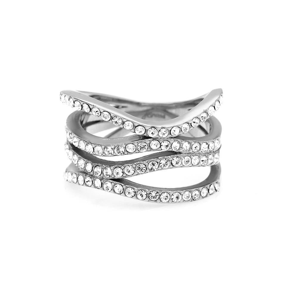 MPM Prsten z chirurgické oceli Ring 8053, Silver, size 56