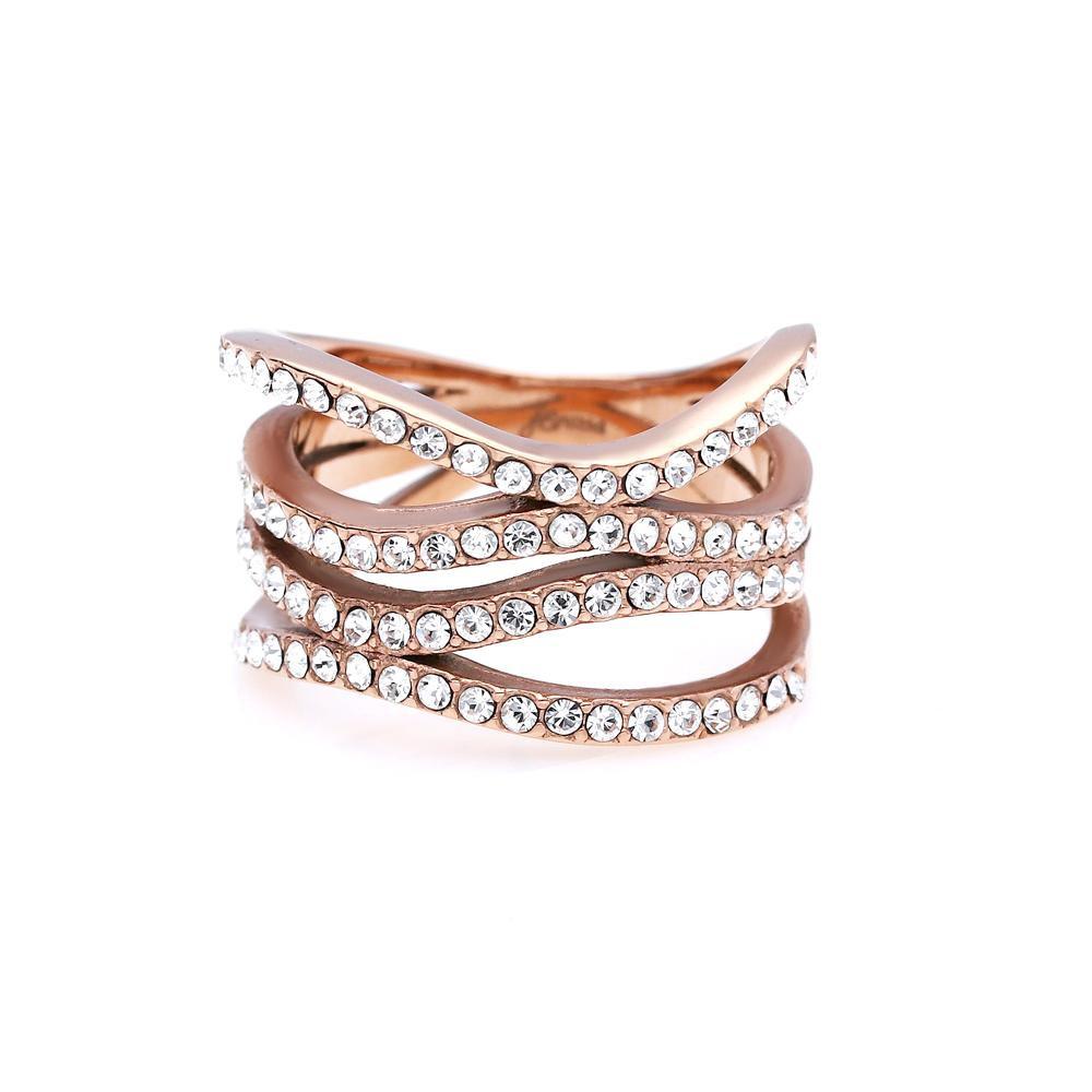 MPM Prsten z chirurgické oceli Ring 8054, Gold rose, size 54