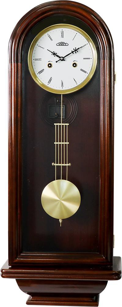 PRIM Kyvadlové skříňové retro dřevěné hodiny PRIM E03P.3927.52