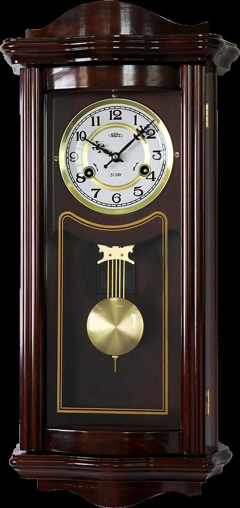 PRIM Kyvadlové dřevěné skříňové retro hodiny Roman PRIM E07P.3925.52
