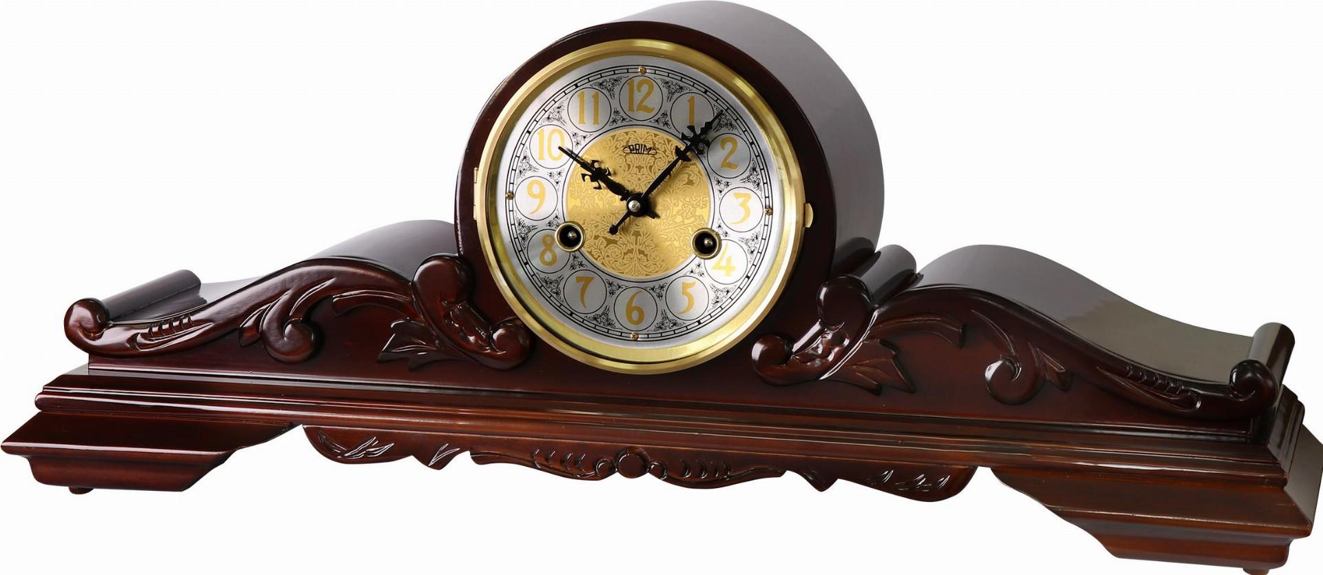 PRIM Dřevěné retro stolní hodiny I. PRIM E03P.3927.52
