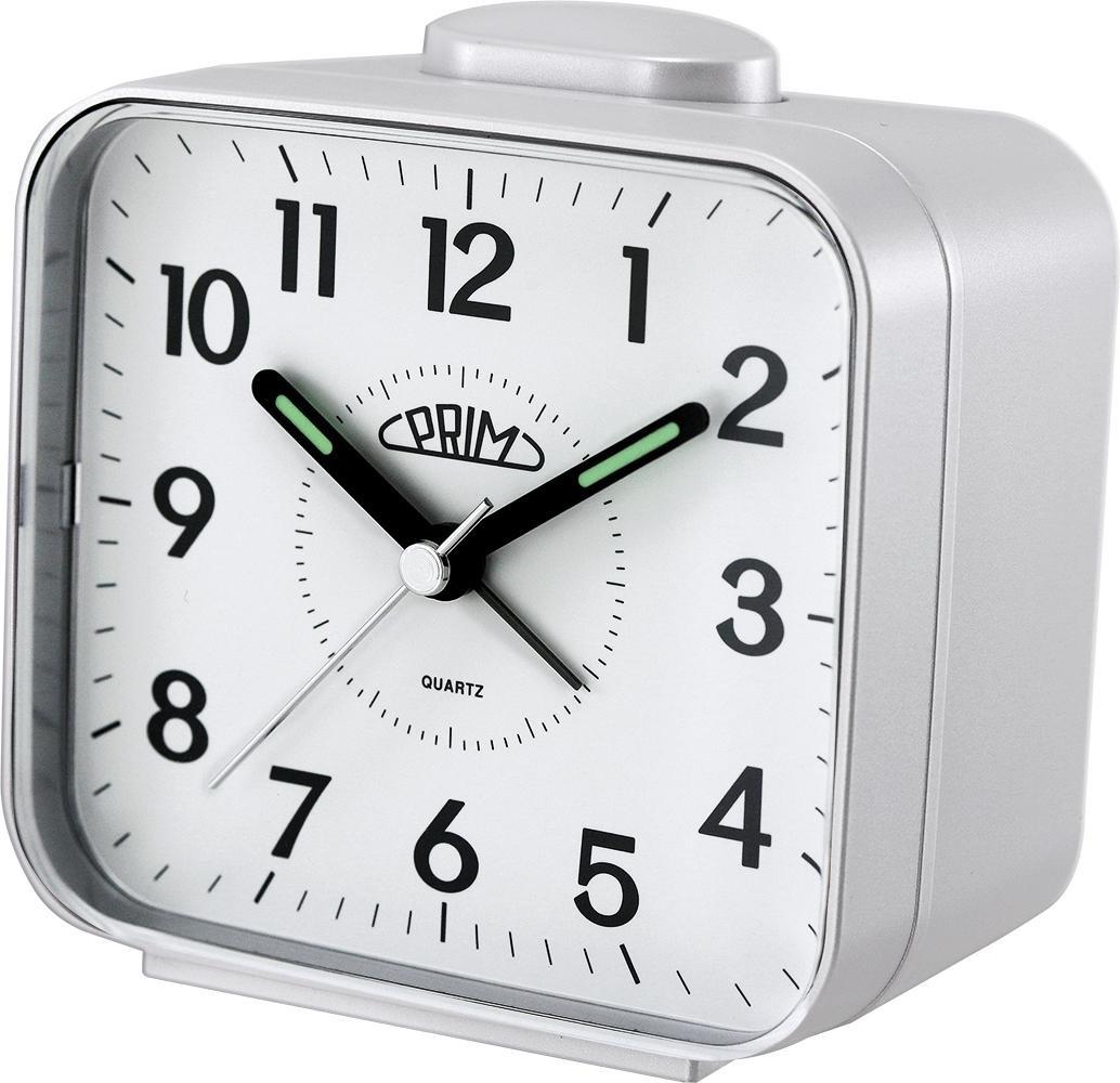 PRIM Stříbrný budík Alarm Klasik - C01P.3795.0200.A