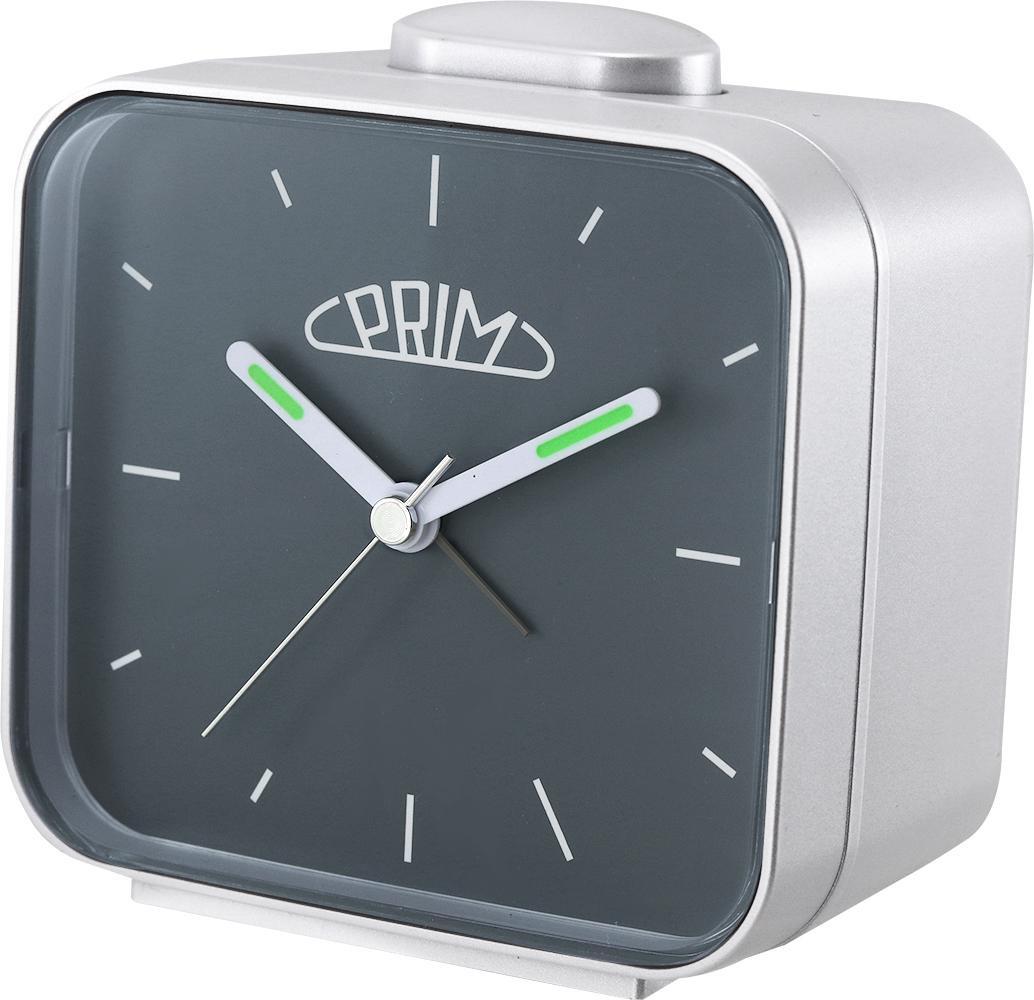 PRIM Šedý budík Alarm Klasik - C01P.3795.0292.I