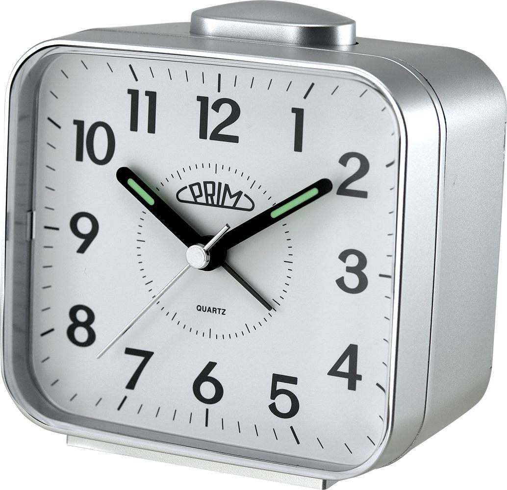 PRIM Stříbrný budík Alarm Klasik - C01P.3795.7000.A