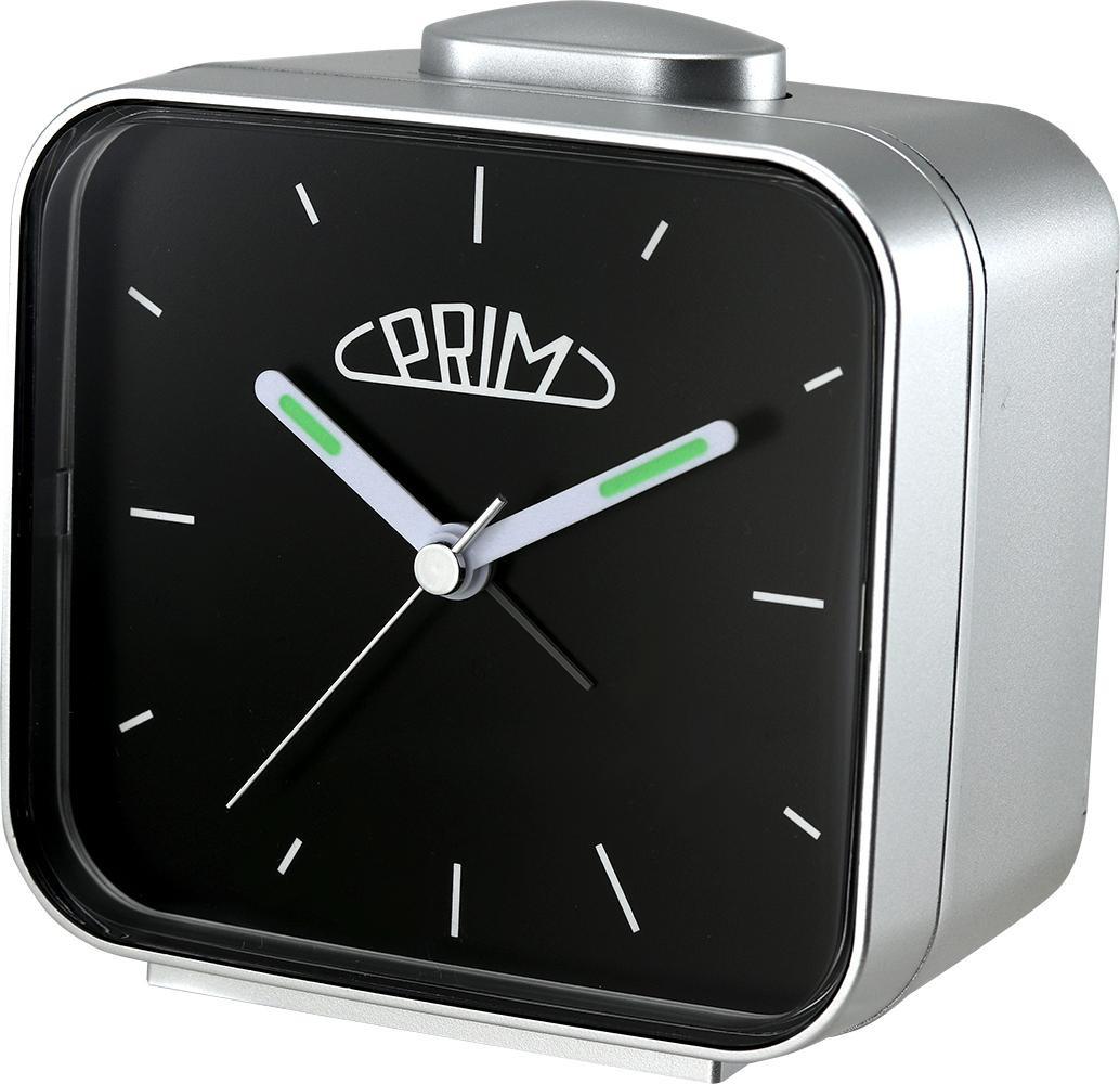 PRIM Černo-stříbrný budík Alarm Klasik - C01P.3795.7090.I