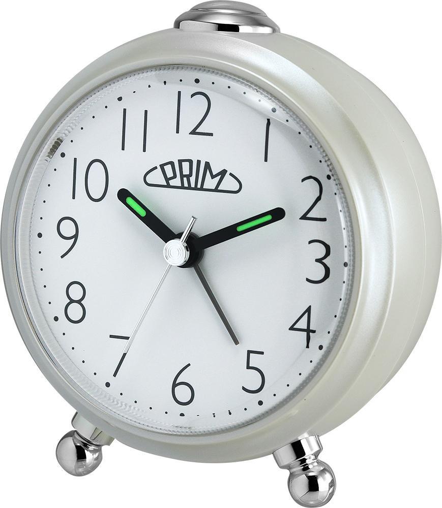 PRIM Perleťový budík Alarm Simply - C01P.3796.0200.A