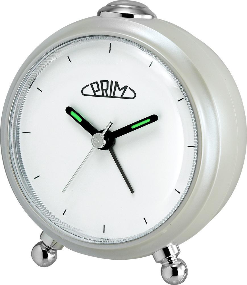 PRIM Perleťový budík Alarm Simply - C01P.3796.0200.I