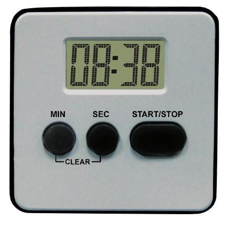 MPM Stříbrná digitální minutka MPM E02.2541