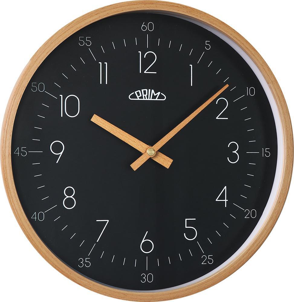 PRIM Dřevěné nástěnné hodiny PRIM Forest III